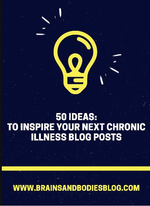 50 ideas to inspire your next chronic illness blog posts